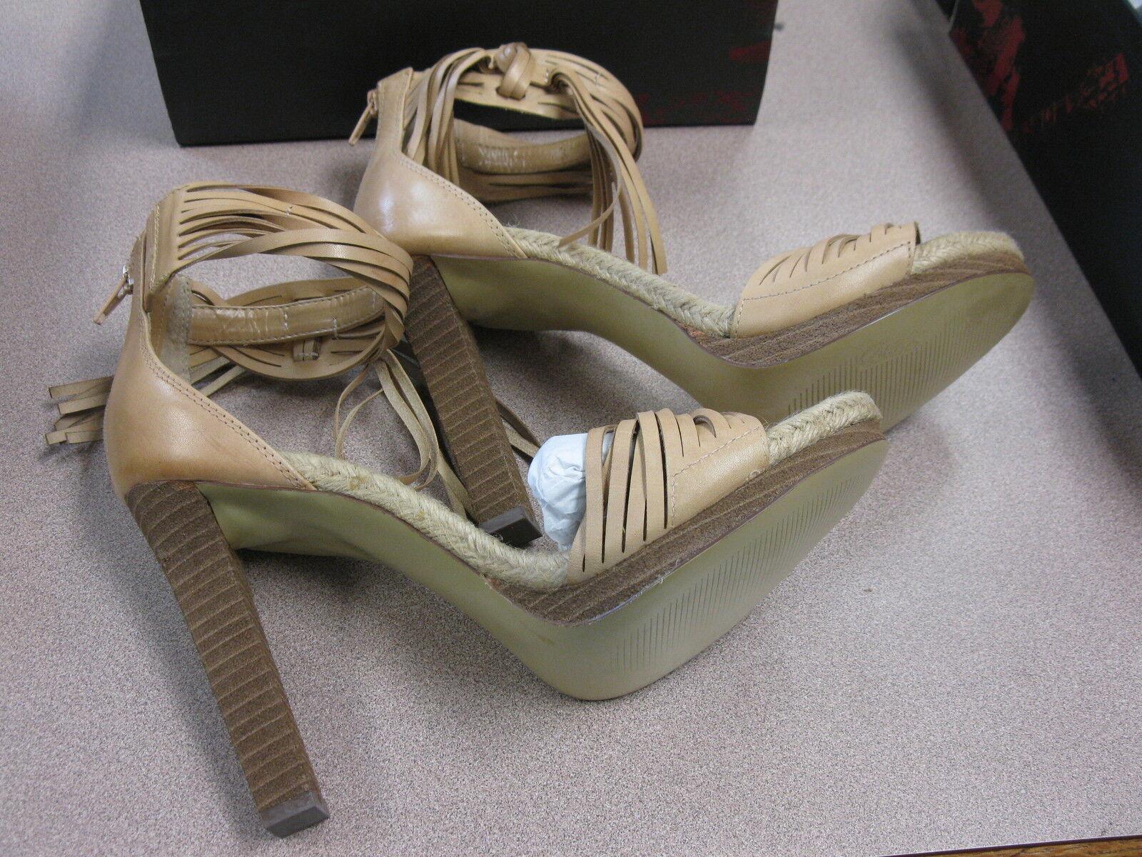 Carlos Santana Villa Camel Beige Dress Heels Sandal Gorgeous Dimensione10 NIB