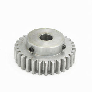 1-5Mod-12T-80T-Spur-Gear-With-Step-45-Steel-Motor-Pinion-Gear-With-Set-Screws