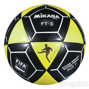 Mikasa FT5 Goal Master Soccer Ball Size 5 Black Yellow Official ... e59c57c475553