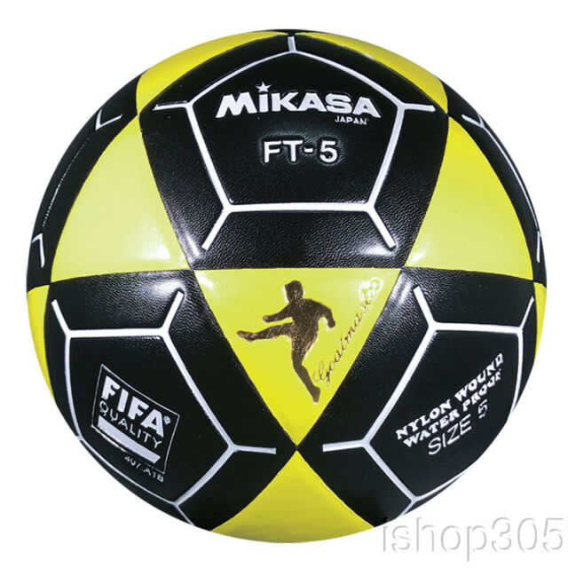 6757a2ff6 Mikasa FT5 Goal Master Soccer Ball Size 5 Black/Yellow Official Footvolley  Ball