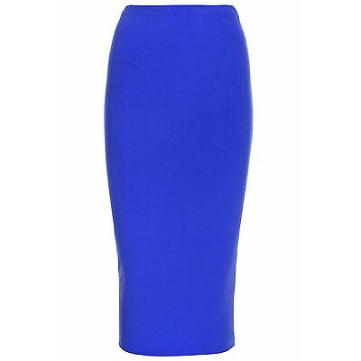 Ladies Womens Layer Double Long Stretchy Tube Pencil Bodycon Office Midi Skirt