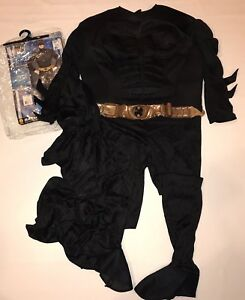 Rubies-Deluxe-Batman-Dark-Knight-Halloween-Costume-Mens-L-42-44-Muscle-Chest