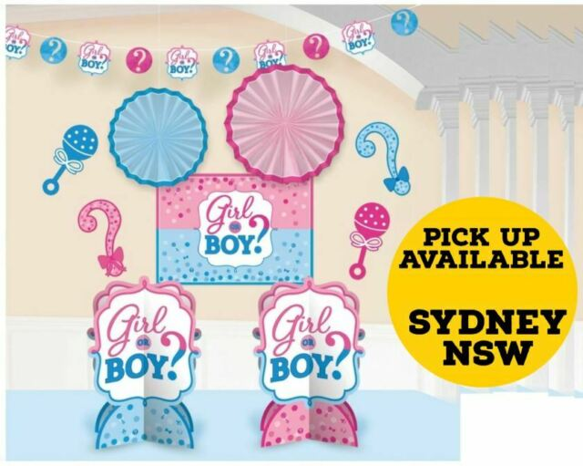 Gender Reveal Girl or Boy Room Decorating Kit Party Decoration Supplies