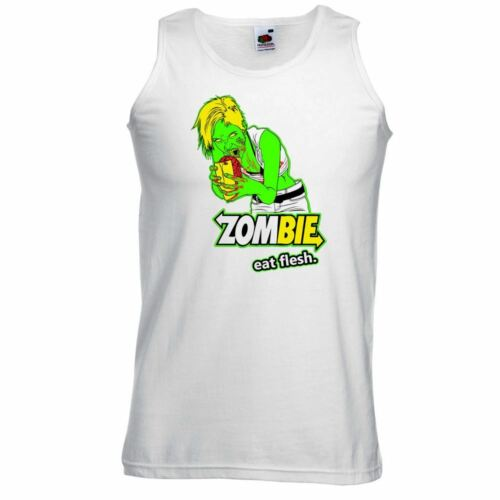 ALM786t-Homme Drôle Sayings Slogans Gilets-Zombie Eat Chair-Funny tshirts