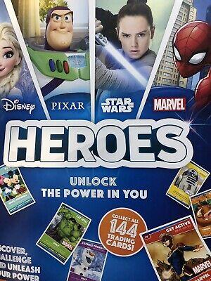 144 Cards DISNEY PIXAR STAR WARS Sainsburys Heroes Cards Complete Full Set