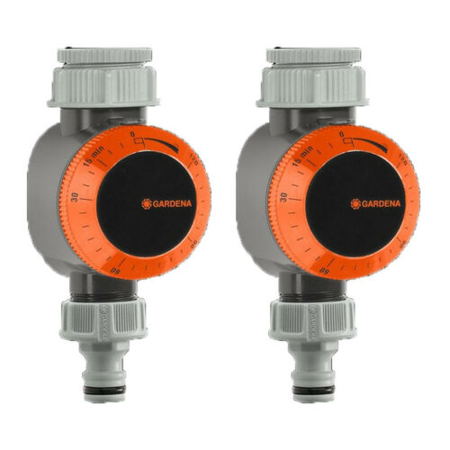 2 Pack Gardena Quick Connect Mechanical Garden Water Timer with Flow Control