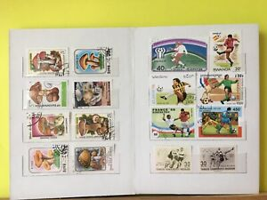 Worldwide-Stamps-65-Different-Stamps-in-a-New-8-Pages-Stamp-Collection-Book-1