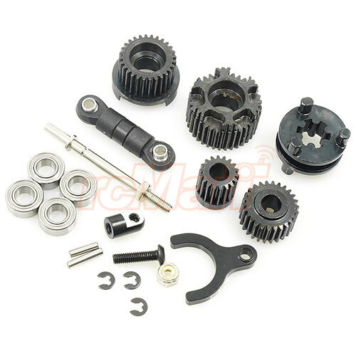 Xtra Speed Two Speed Transmission Conversion Kit Axial SCX10 II #XS-SCX230083