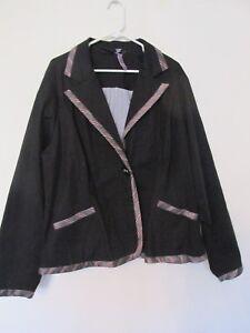Taille Gris Grande Bouton Femme Pour Neuf Rose Blazer amp; Torrid Noir Veste W up OcPFqP6