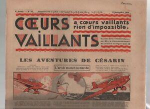 Cuori-Vaillants-1934-N-37-Tintin-e-Milou-in-Orient-la-Standby-Del-Partenza