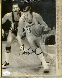 Jerry-West-JSA-Coa-Autograph-8x10-1971-Original-Photo-Hand-Signed-Authentic