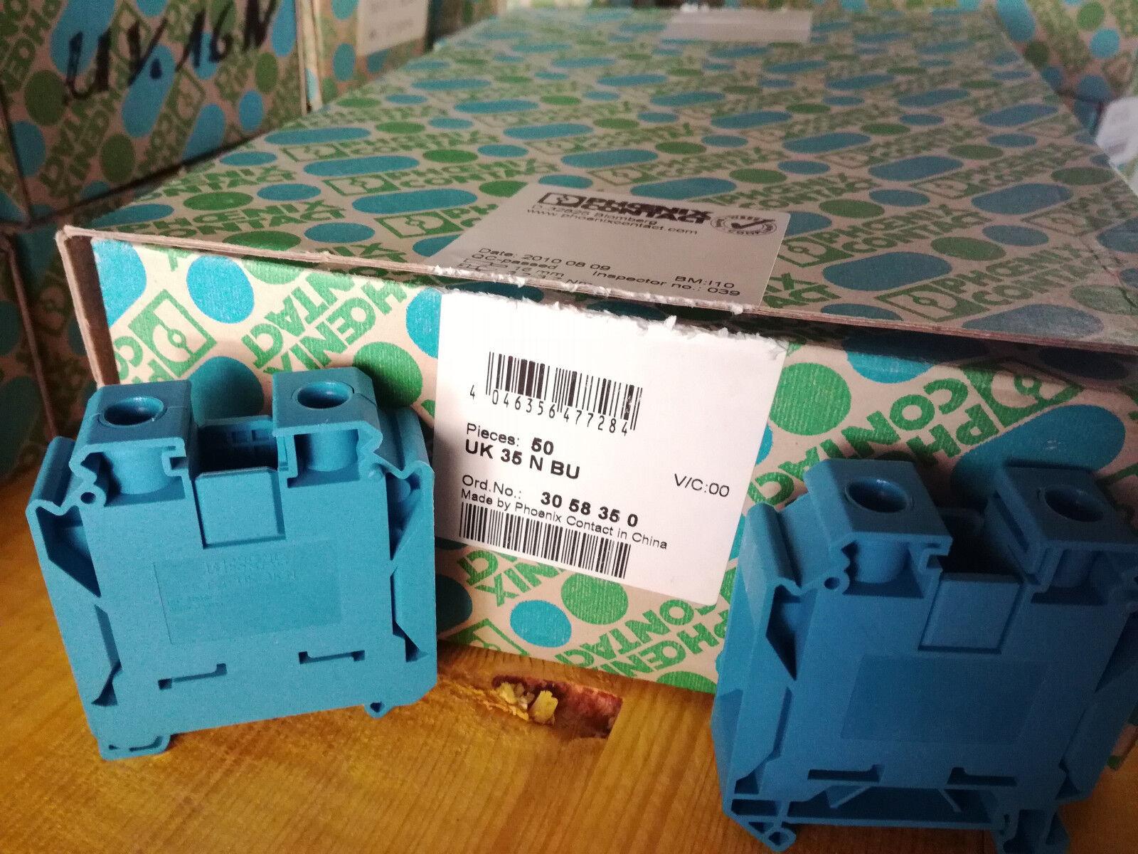 3058350 Durchgangsklemme Reihenklemme blau neu Phönix Contact UK35N BU Art.Nr