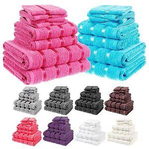 Conjunto de toallas de lujo de Boston Set 100% algodón 8 piezas juego de toalla cara mano Toalla de Baño