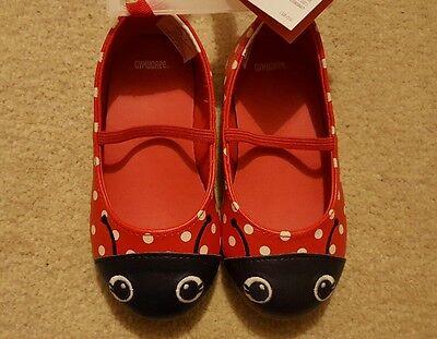 Gymboree girls ladybug shoes size 7 usa 6 uk