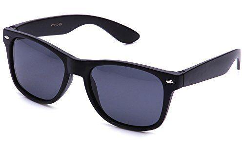 Polarized Classic Sunglasses Horned Rim Vintage Anti-Glare Eyewear Spring Hinges