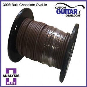 Analysis-Plus-BULK-Chocolate-Oval-12-2-Speaker-Cable-Length-300ft