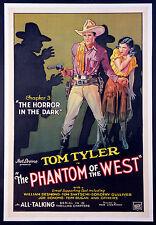 PHANTOM OF THE WEST TOM TYLER WESTERN SERIAL STONE LITHO 1931 1-SHEET