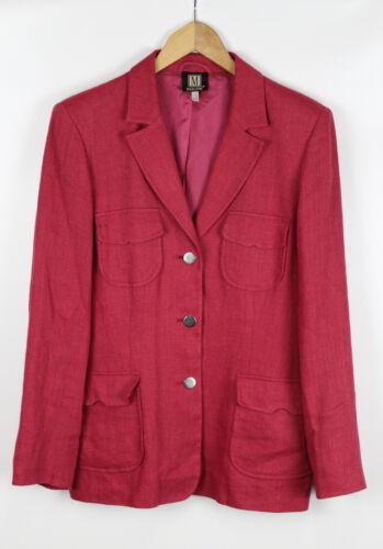 100 Damen Pink Madeleine Größe 40 Leinen Blazer qIdnzwX