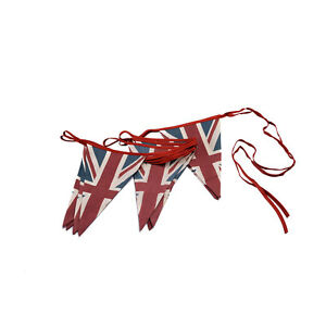 Vintage-British-Union-Jack-textile-flag-Cloth-Tissu-Bunting-Retro-Banniere-UK