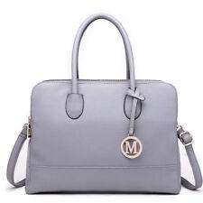 8308f659b20b item 5 Ladies Fashion Designer PU Leather Handbag Tote Shoulder Gray Bag  Women -Ladies Fashion Designer PU Leather Handbag Tote Shoulder Gray Bag  Women