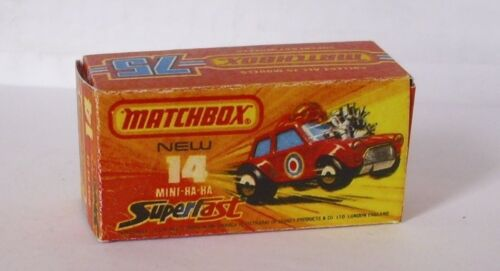 Repro Box Matchbox Superfast Nr.14 Mini Ha Ha
