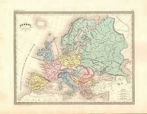 1880 Ca Antique Map Malte Brun Europe Ancienne Ebay