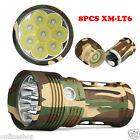 2017 Super Bright 30000LM 9x XM-L T6 LED Hunting Flashlight 4 x 18650 Lamp Torch