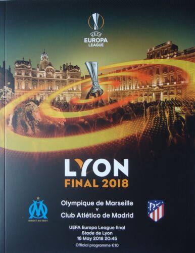 off Programm UEFA EL Finale 2018 Olympique Marseille Atletico Madrid