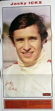 JACKY ICKX  (Formule1) =  POSTER 3 pages début années 70  //  CLIPPING
