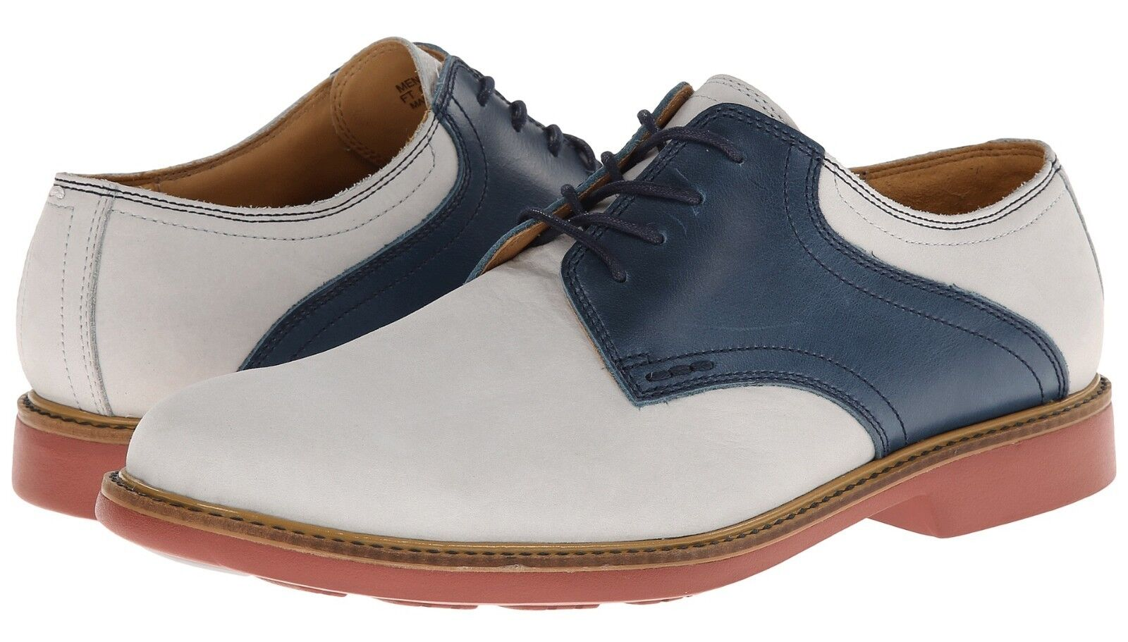 New  198 Cole Haan Great Jones Saddle Nubuck Pelle Oxford Lace-Up Alloy 8