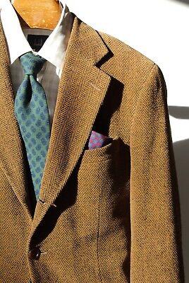 Ermenegildo Zegna Soft 40R Golden Brown Herringbone 3-Roll/2 Blazer -- $2,495.00