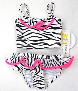 e448bdef551d5 Koala Kids Baby Girls Zebra Print Ruffle Straps Two-Piece Swimsuit 3 ...
