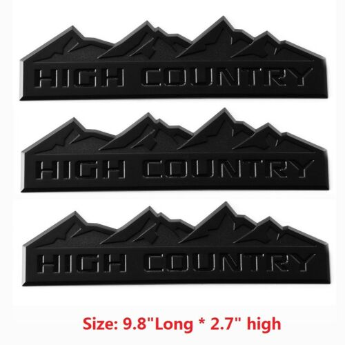 3pcs OEM Black HIGH COUNTRY Emblems Badge door tailgate for Silverado L Matte