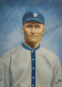 Walter-Johnson-Washington-Senators-Original-Baseball-Poster-Oil-Painting-XL