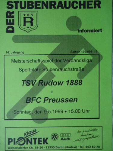 Programm 1998//99 TSV Rudow BFC Preussen