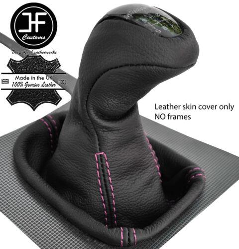 Pink Stitch Cuir Véritable Manuel gear knob cover pour MERCEDES Cclass W203 00-03