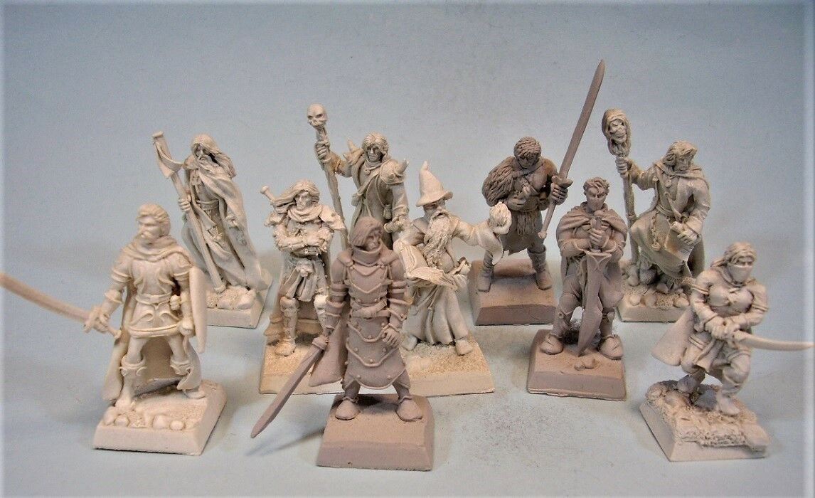 Unpainted miniature Lot Fenryl (10)