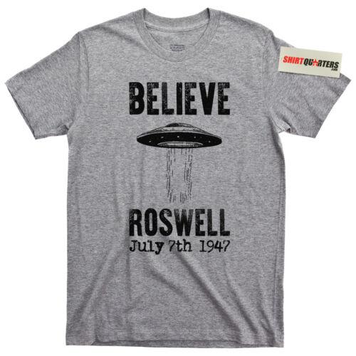 Roswell Crash UFO Flying Saucer Conspiracy Theory NASA Moon Landing Hoax T Shirt