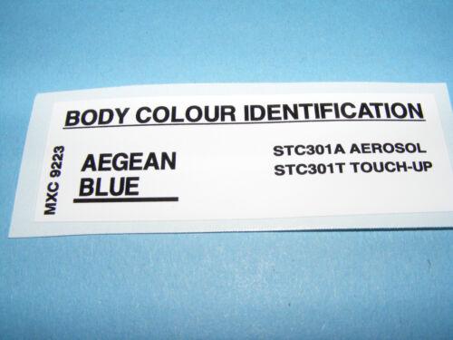 RANGE Rover CLASSIC colore Decalcomania AEGEAN BLUE