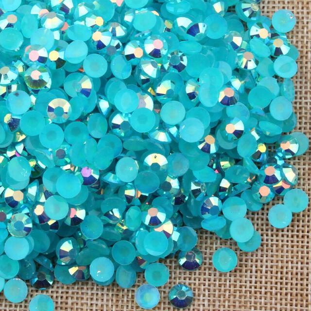 5000pcs AB Jelly drill beads round flatback Scrapbooking crafts 2,3,4,5,6MM #03