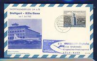 51007) LH FF Stuttgart - Köln 1.7.62, Karte ab Luxemburg