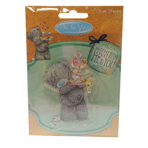 Me to you Mothers day//Birthday Teddy /& Cake Stand 75 x 60mm Clear Stamp