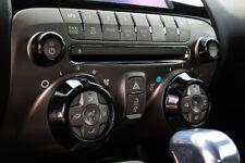 2010-2014 Chevrolet Camaro Billet Radio Knob Covers Black