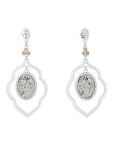 NEW Piper Aurora Druzy Drop Earring Silver