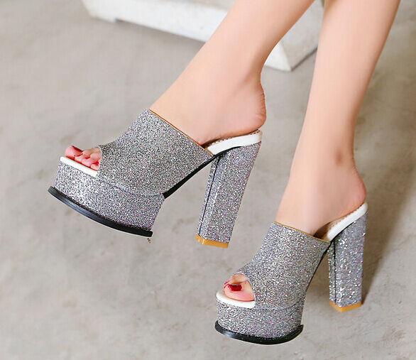Último gran descuento Zapatos zapatillas zuecos sandalias tacón alto 12 cm plataforma rosa 9300