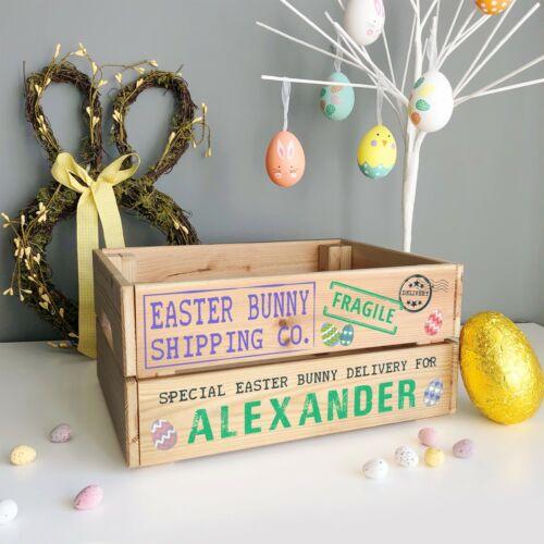 Livraison Spéciale Boîte du lapin de Pâques Personnalisé en bois Pâques Œuf Crate