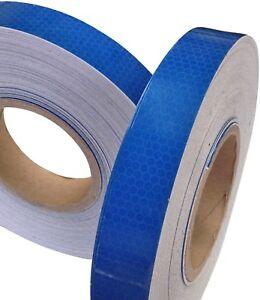 New-High-Intensity-Reflective-Tape-Vinyl-Blue-25mm-x-2-5m-Exterior-Decal-Sticker