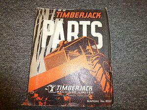 timberjack 200 205 215 225 230 skidder forwarder parts catalog rh ebay com Timberjack Used Parts Timberjack 208
