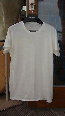 Coscienzioso Vintage Bianco T-shirt Girocollo T-shirt In Bianco Pianura Rotonda Collo Effetto Invecchiato Indossato Punk 2-mostra Il Titolo Originale