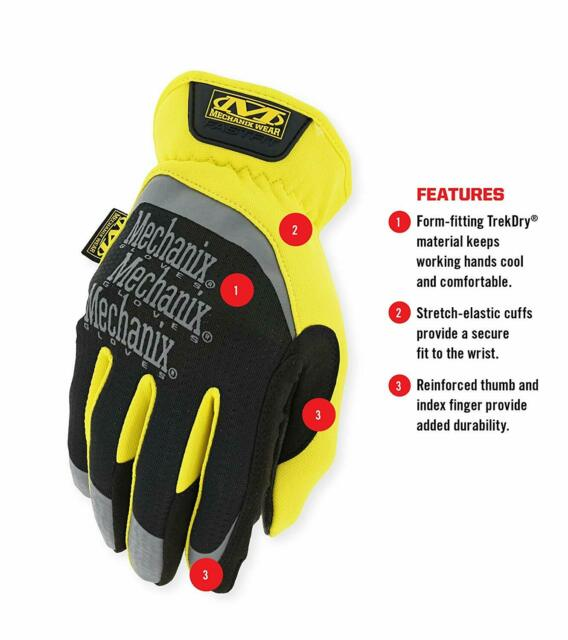 Medium, Black//Brown Material4X FastFit Gloves Mechanix Wear